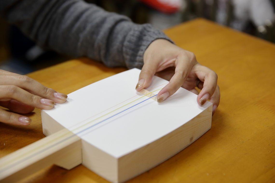 Make and play a shamisen at a Shamisen Kit Class.