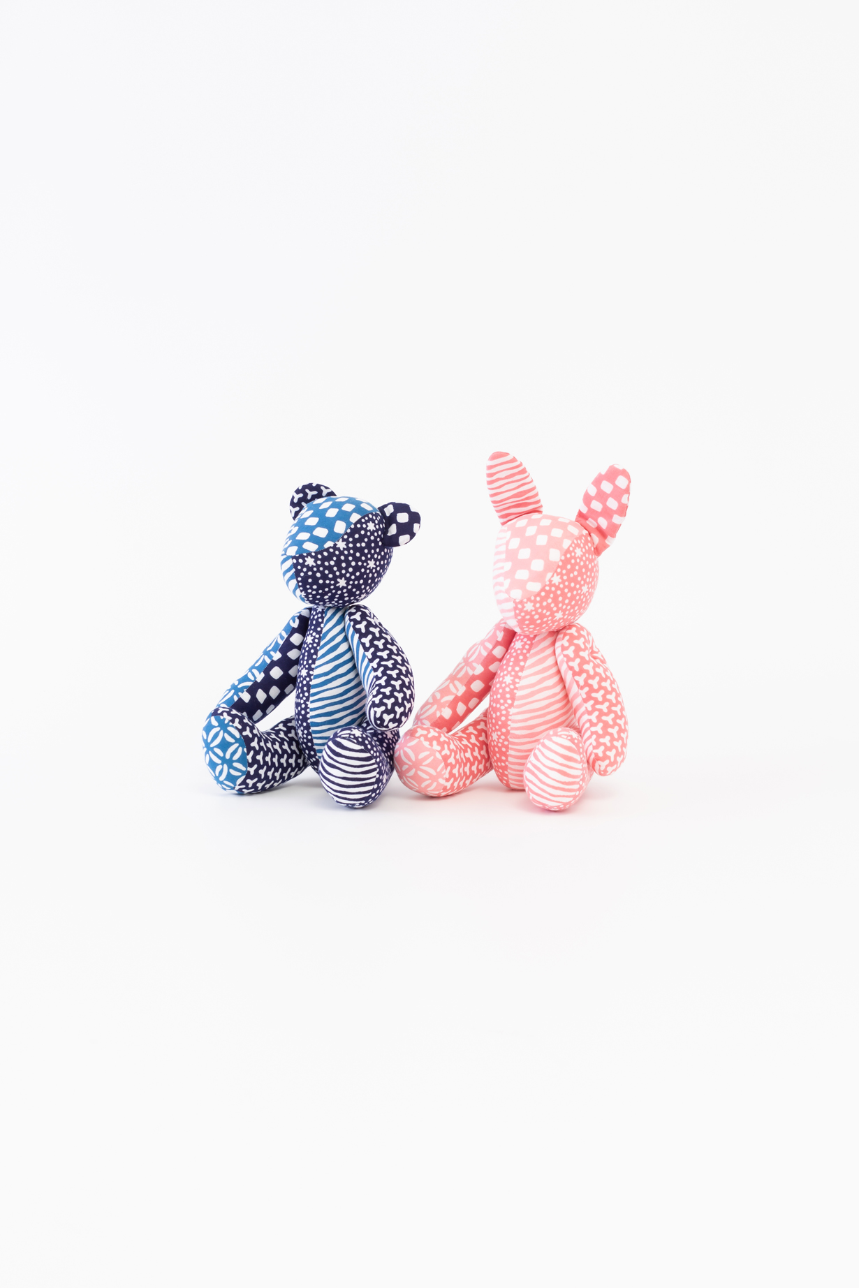 Bear (Blue) & Rabbit (Pink)