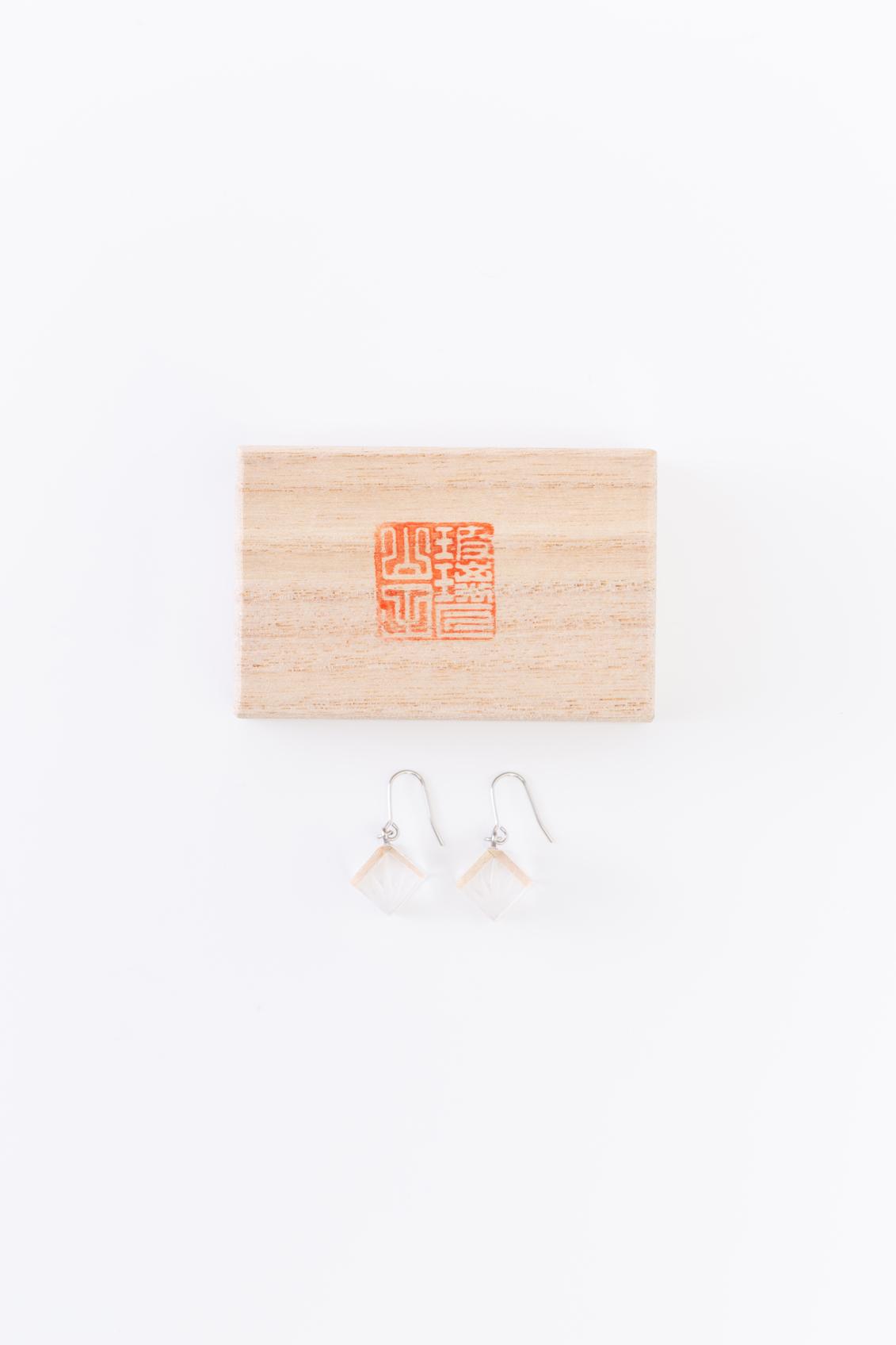 KITOKIRIKO Earrings(bamboo leaves)&box