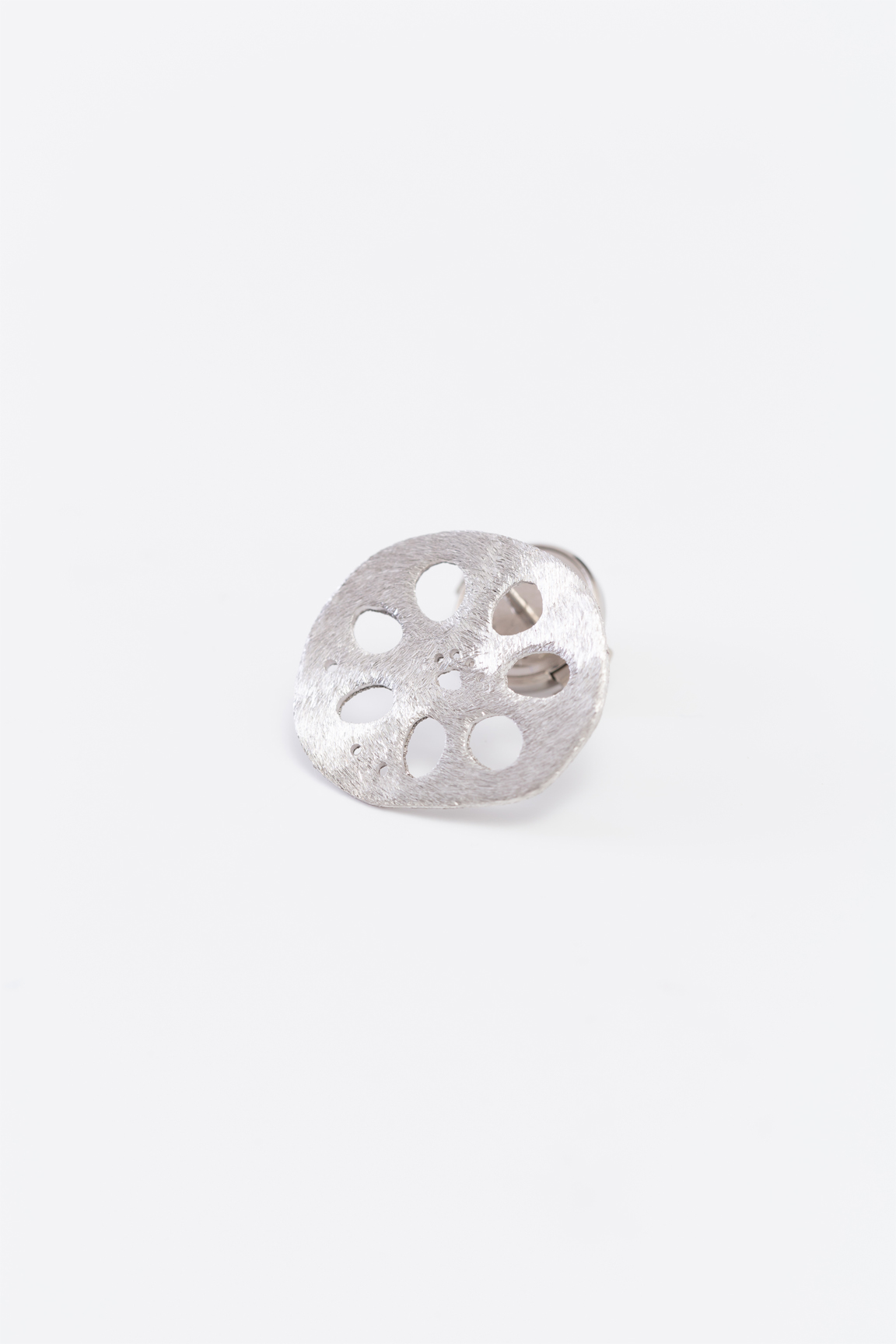 Lotus_pad pin broach(silver)