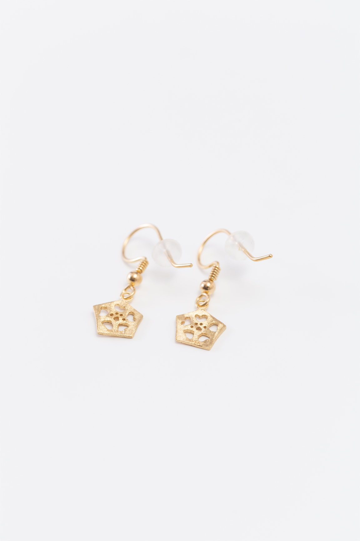 Okra_Earring(gold) (hook type)