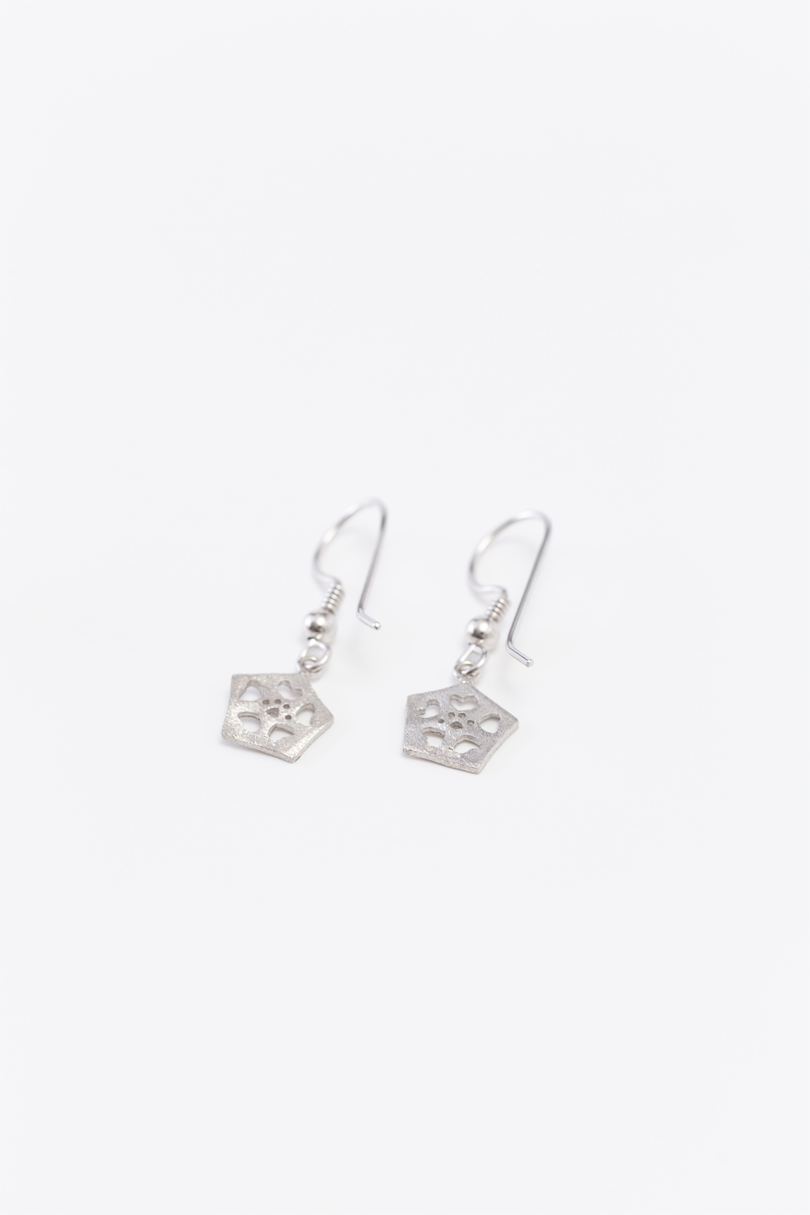 Okra_Earring(silver) (hook type)