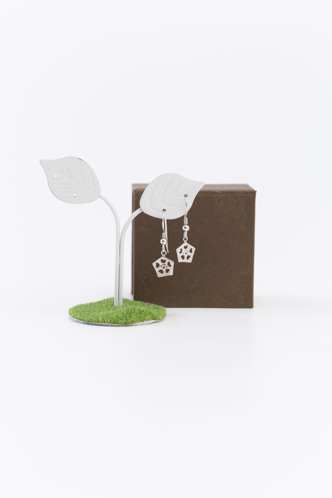 Okra_Earring(silver) (hook type)&box