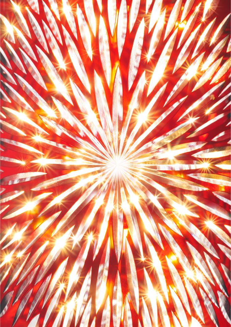 """Edokiriko lamp """"HANABI"""" (fireworks)"""