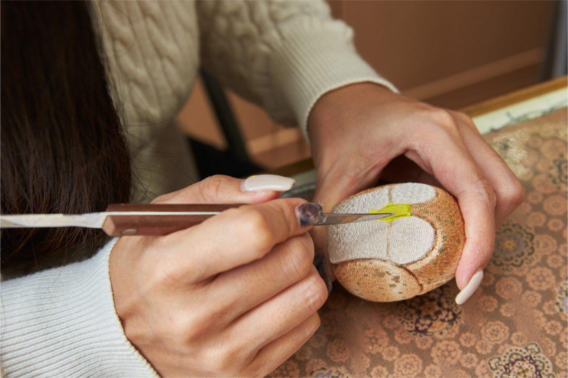 Let's craft an auspicious owl in Tsukada Koubou's 'Kimekomi Experience'!