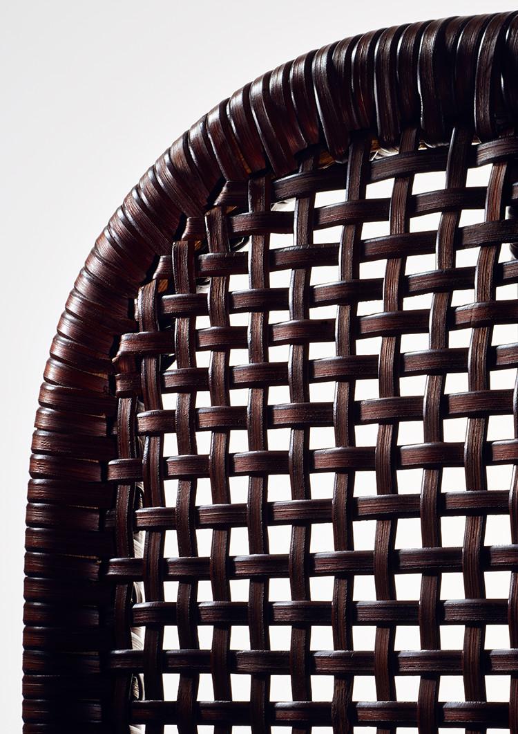 籐製らく座椅子