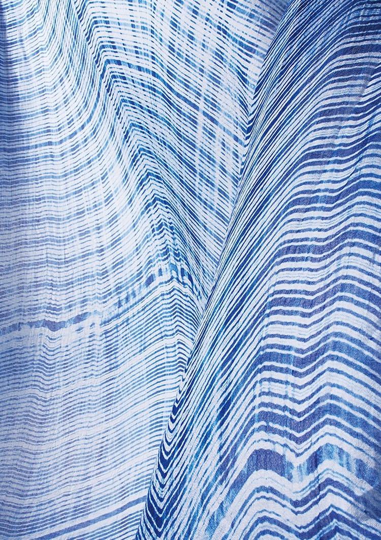 天然藍染板締ストール
