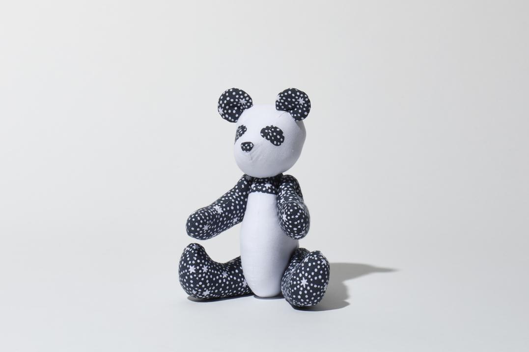 パンダ(グレー)人形