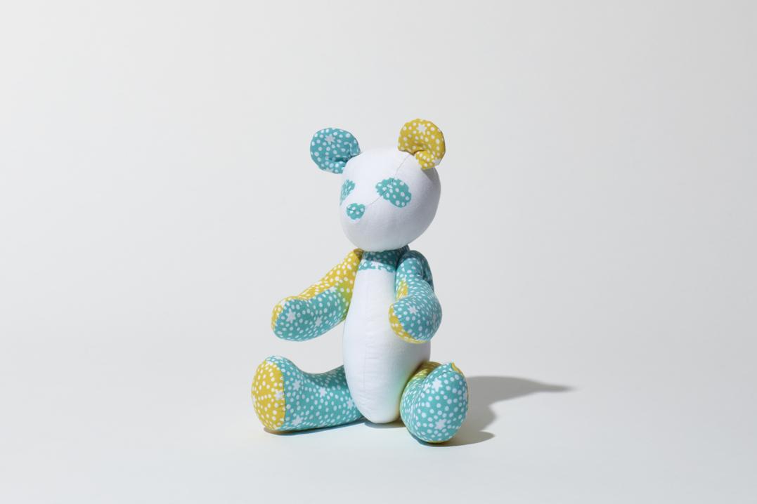 パンダ(水色×イエロー)人形