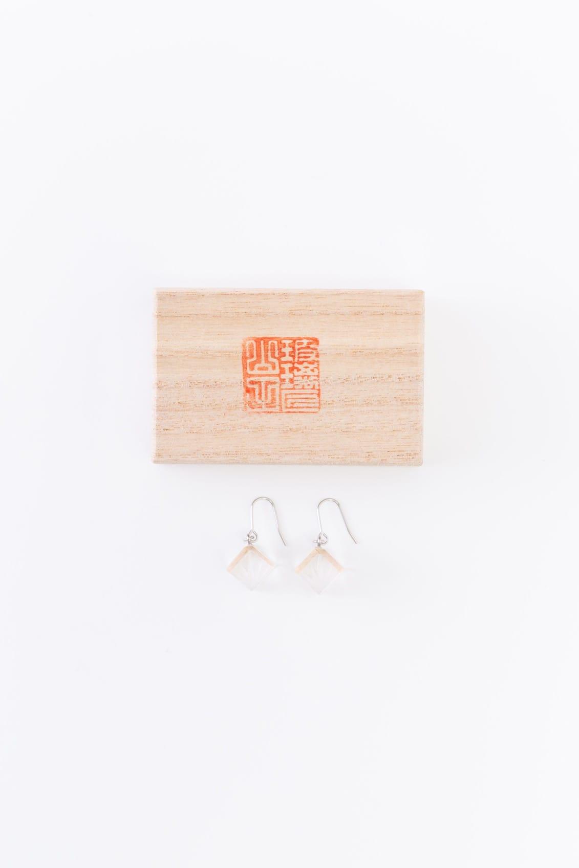 kitokirikoピアス 笹の葉 箱付き