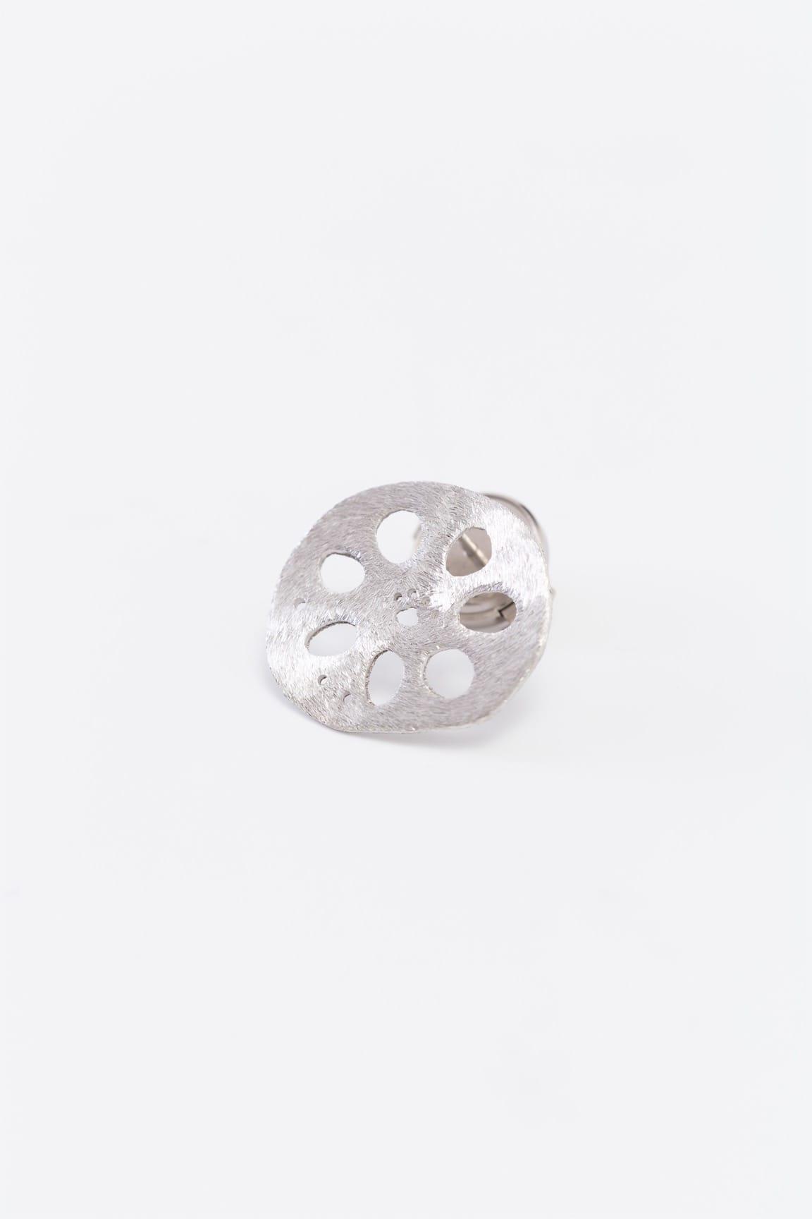 レンコンパッドピンブローチ(銀)