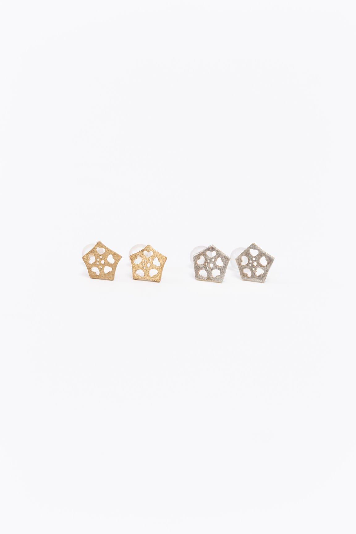 オクラピアス(ポスト式)金銀
