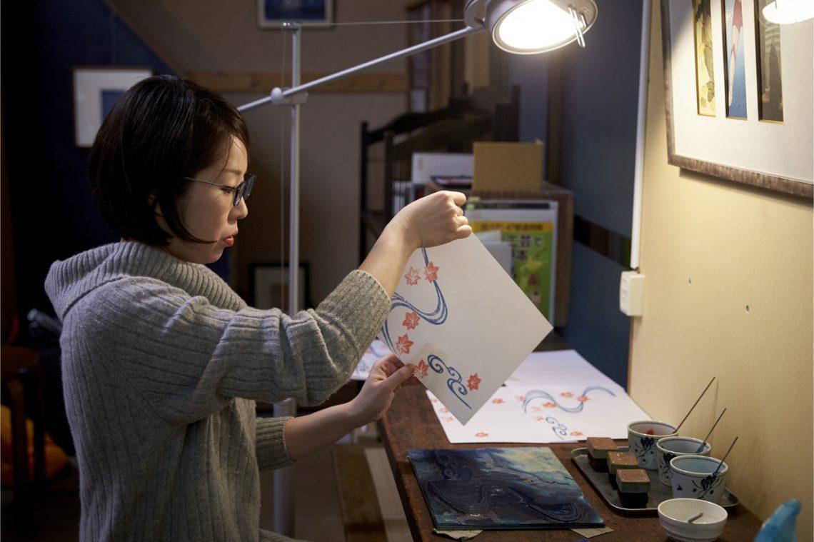 【木版画体験】で、羽子板を作ってみよう!