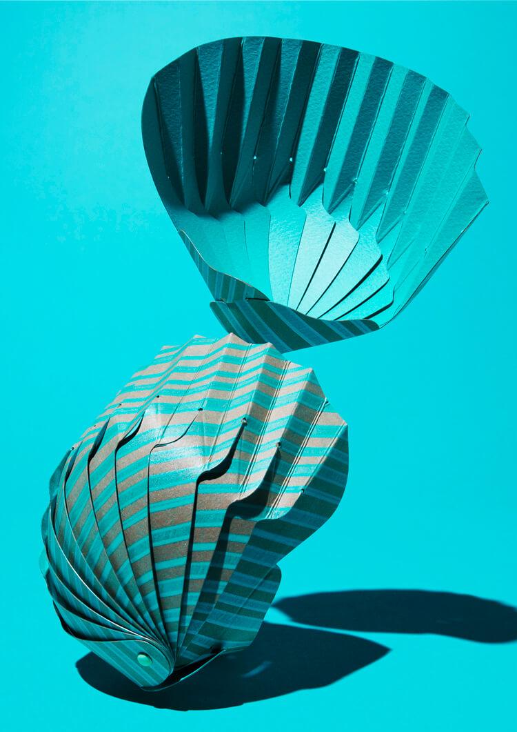 紙の貝殻椀
